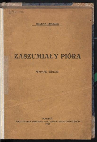 File:Helena Mniszek - Zaszumiały pióra.djvu
