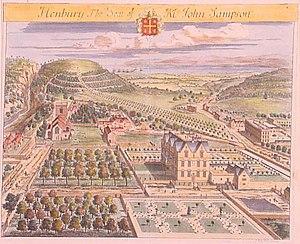 Henbury Hall, Cheshire - Depiction of Henbury Hall in the 1707 Britannia Illustrata