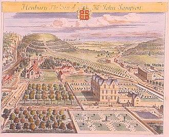 Britannia Illustrata - Depiction of Henbury Hall
