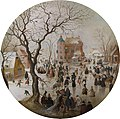 Hendrick Averkamp A Winter Scene with Skaters near a Castle.jpg