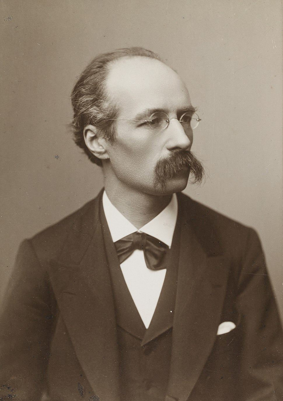 Henri La Fontaine (photographie Géruzet Frères, Bruxelles)