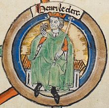 Illustration of a seated mediaeval king