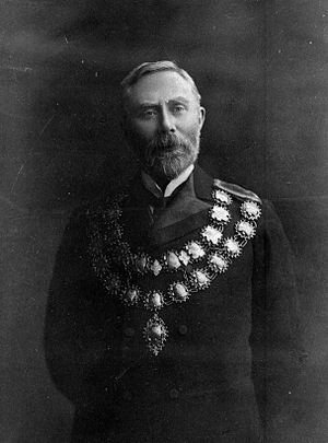 Henry Wigram - Henry Wigram wearing mayoral chains