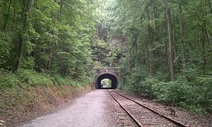 Howard Tunnel - The Howard Tunnel's south portal.