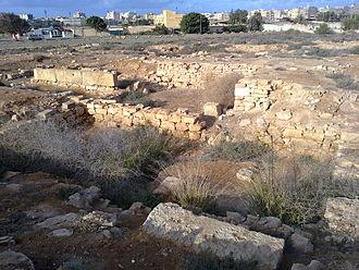 History of Benghazi - Euesperides ruins, Benghazi.