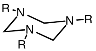 Hexahydro-1,3,5-triazine - Structure of a trisubstituted hexahydrotriazine