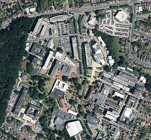 Highfield Campus - Aerial view of Highfield Campus