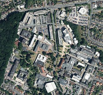 University of Southampton - Aerial view of the Highfield Campus