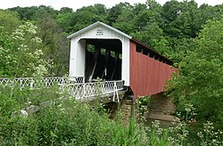 The Hildreth Bridge, a township landmark