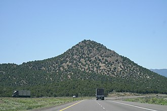 Juab County, Utah - A hill in Juab County, situated southwest of Nephi, Utah adjacent to I-15