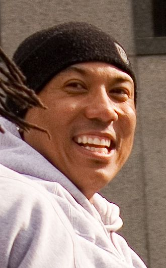 Hines Ward - Ward at the Steelers' 2009 Super Bowl parade