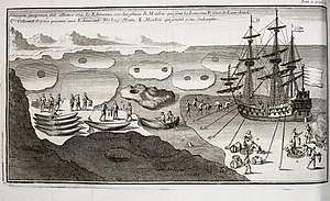 Inuit - A European ship coming into contact with the Inuit in the ice of Hudson Bay in 1697.