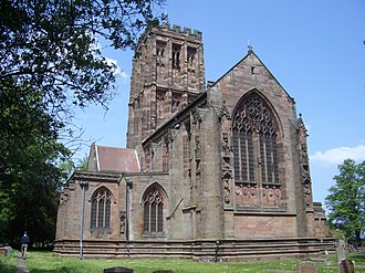 Church of the Holy Angels, Hoar Cross - Image: Holy Angels Hoar Cross 2