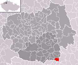 Location of Horní Beřkovice