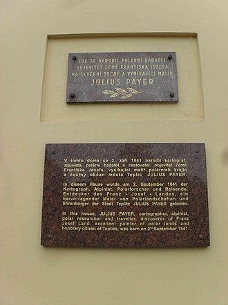 Julius von Payer - Memorial in Teplice