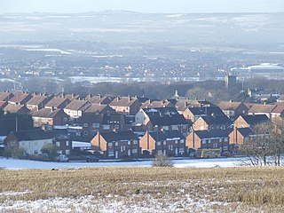 Houghton-le-Spring Town in Tyne and Wear, England