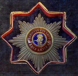 House and Merit Order of Peter Frederick Louis - Breast Star to the Grand Cross of the Order