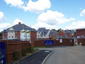 RAF Eastcote - New housing under construction on the site