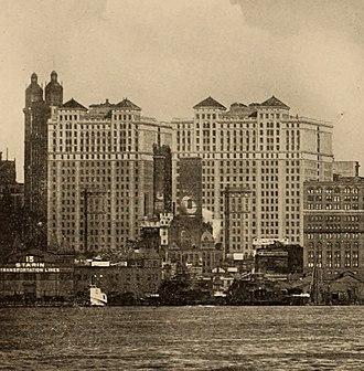 Hudson Terminal - Hudson Terminal towers in 1912
