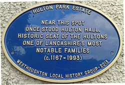 Hulton blue plaque