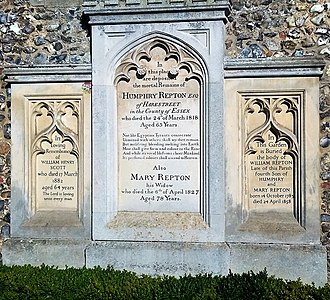Humphry Repton - Repton's grave