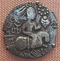 Huns silver coin copying Gupta horse type 5th century CE.jpg