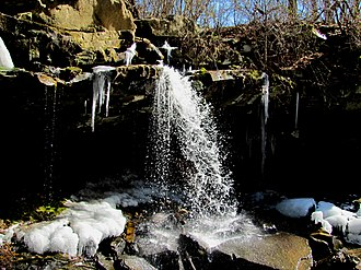 Huntsville, Tennessee - Waterfall along Town Spring, a tributary of New River