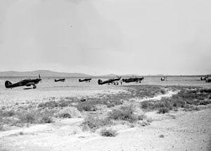 No. 80 Squadron RAF - Hurricanes of 80 Squadron in Palestine, June 1941.