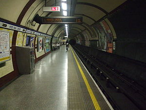 Hyde Park Corner tube station - Image: Hyde Park Corner stn eastbound look west