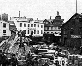 Iceland Base Command - Temporary Supply Dump in Reykjavik 1941