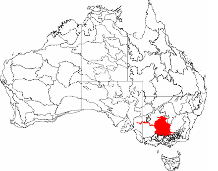 The IBRA regions, with the Riverina in red IBRA 6.1 Riverina.png