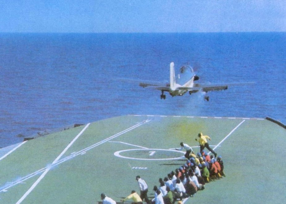 INS Vikrant (R11) launches an Alize aircraft during Indo-Pakistani War of 1971