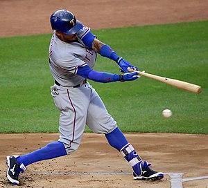 Ian Desmond - Desmond batting for the Texas Rangers in 2016