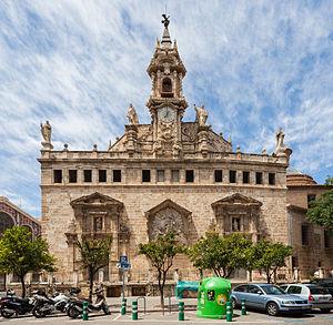 Santos Juanes, Valencia - Church of the Santos Juanes, rear (apse) facade.