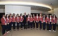 Ilham Aliyev met with Azerbaijani athletes competing in Baku Chess Olympiad.jpg