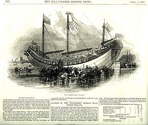 Keying (ship) - Illustrated London News article, 1 April 1848.
