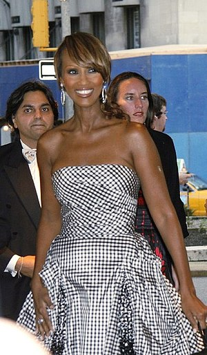 Iman (model) - Iman at the Metropolitan Opera opening night on 25 September 2006.