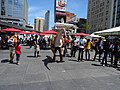 Impressive Raptor puppet, at Dundas Square, 2016 07 16 (2).JPG - panoramio.jpg