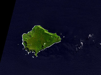 Inaccessible Island - NASA Terra ASTER image of Inaccessible Island