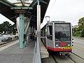 Inbound train at Stonestown station, July 2017.JPG