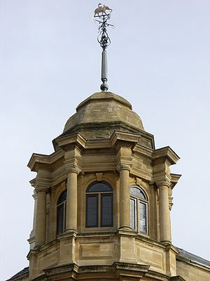 Indian Institute - Corner cupola with elephant weathervane
