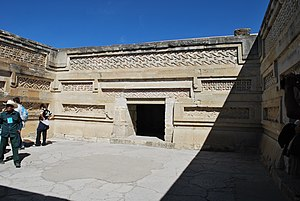 Economy of Oaxaca - Palace courtyard of Mitla
