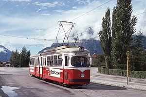 Lohner-Werke - DUEWAG licensed articulated tram (1977) for Innsbruck