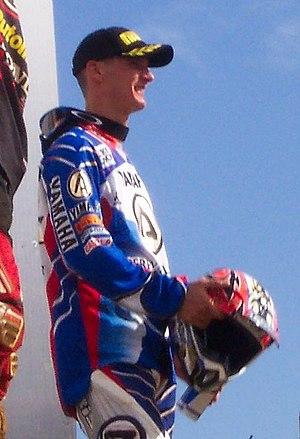 Stefan Everts - Everts on the MX1 podium at the 2004 British GP (Arreton, IOW).