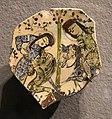Iran o anatolia, frammento di piatto o mattonella con scena figurata, 1190-1210 ca. 01 cavalieri.JPG