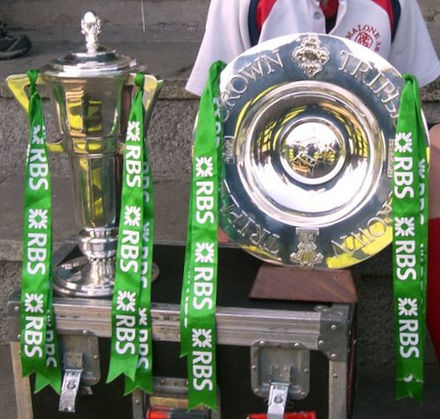 Ireland's Grand slam trophy haul in 2009 Ireland 2009 6 nations triple crown.jpg