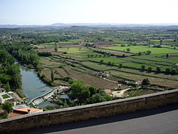 Landscape near Alcañiz with the Guadalope River in the foreground