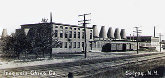 Iroquois China Company - Iroquois China Company in Solvay, New York, about 1910 - The plant was originally built for a company called Syracuse China Company in 1904; however, they went out of business soon after