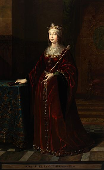 A posthumous portrait of Queen Isabel of Castile