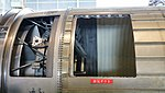 Ishikawajima-Harima F100-IHI-220E turbofan engine(cutaway model) exhaust duct left side view at JASDF Hamamatsu Air Base September 28, 2014.jpg